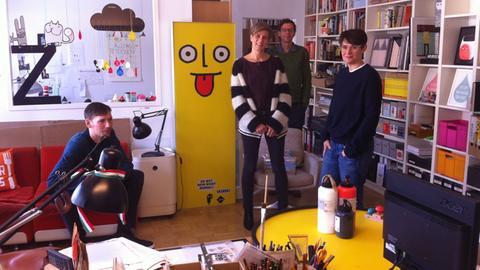 Labor Ateliergemeinschaft: Jörg Mühle, Kirsten Fabinski, Philip Waechter, Zuni Fellehner (v.l.n.r.)