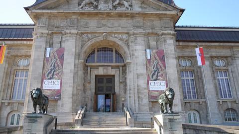 Eingang zum Landesmuseum Darmstadt