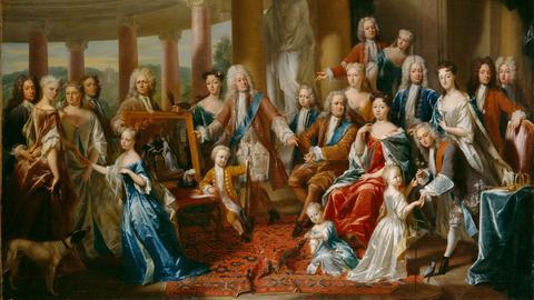 """Philip van Dijk, """"Landgraf Carl und seine Familie"""", 1725"""