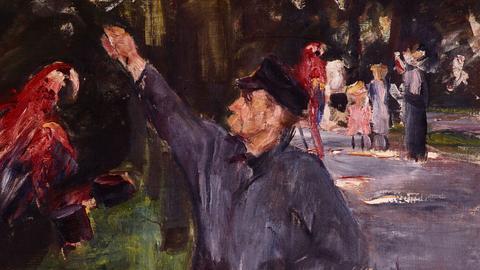 Max Liebermann, Papageienmann, 1900/1901, Öl auf Leinwand, Privatbesitz