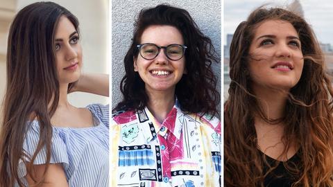 Collage der Preisträgerinnen des hr2-Literaturpreises