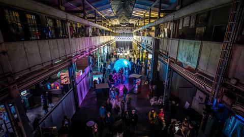 Zentraler Luminale-Schauplatz: die Naxoshalle