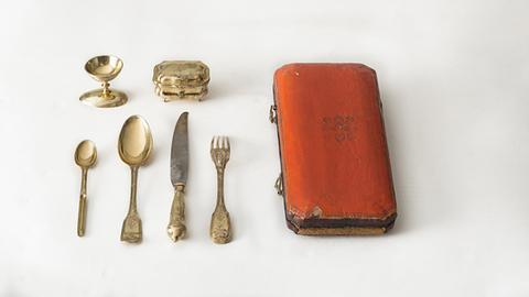 Reisebesteck im Etui, hergestellt zwischen 1773 und 1777