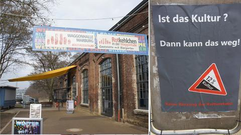 Plakat mit Aufschrift: Ist das Kultur? Dann kann das weg!
