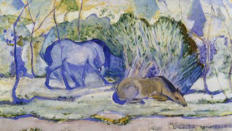 """""""Pferde auf der Weide"""", Franz Marc"""