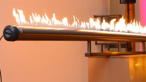 Flammenrohr im Mathematikum Gießen
