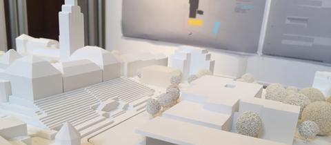 Modell Besucherzentrum Mathildenhöhe