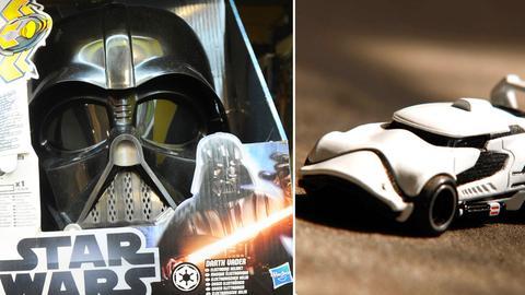 Star-Wars-Merchandising von Hasbro (l.) und Mattel