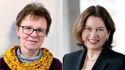 Bildcombo: Mercedes Thiel und Maren Matthes