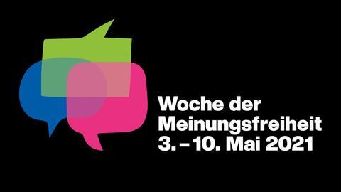 Loge Woche der Meinungsfreiheit - 3. bis 10. Mai 2021 - Sprechblasen