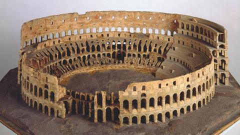 Colosseum in Rom, Korkmodell, Antonio Chichi