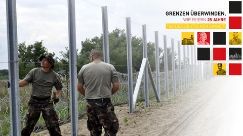 Einheitsmotto und Bau des Grenzzauns in Ungarn