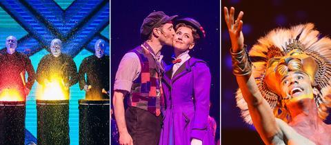 """Zu den von """"Stage Entertainment"""" präsentierten Musicals gehören """"Blue Man Group"""", """"Mary Poppins"""" und der """"König der Löwen""""."""