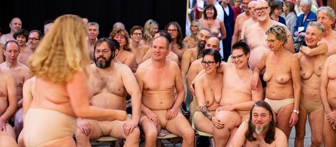 Nackte Statisten im Staatstheater Kassel