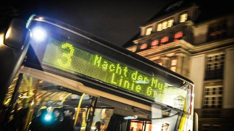 Bus bei der Nacht der Museen