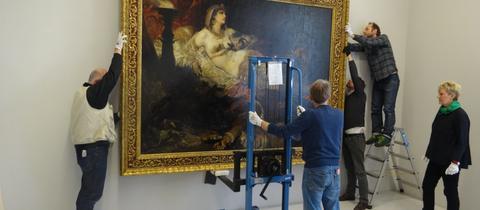"""Das Bild """"Tod der Kleopatra"""" wird in der Neuen Galerie abgehängt"""