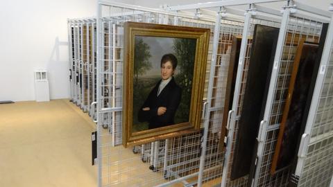 Kellerdepot der Neuen Galerie in Kassel