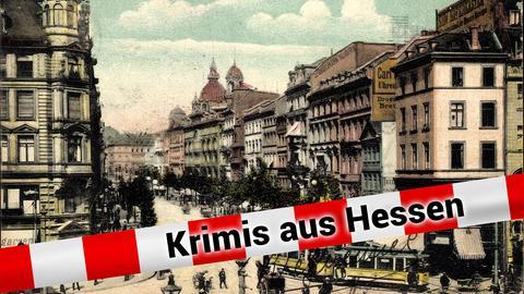 Historische Ansicht der Frankfurter Zeil um 1905