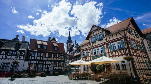 Ein Platz in Oberursels Altstadt