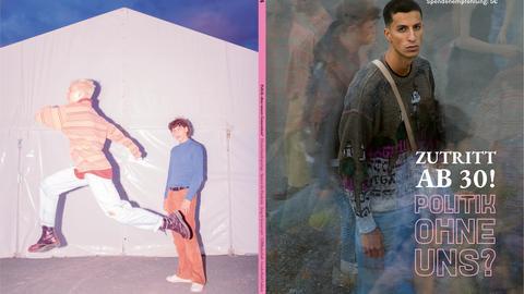 """Magazin Cover mit einem skeptisch schauenden jungen Mann und der Titelzeile """"Zutritt ab 30"""""""