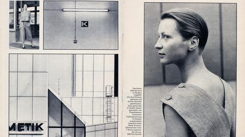 Ausschnitt aus der Frauenzeitschrift Sibylle, 1984/1, Seite 16-17