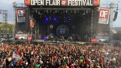 Bühne beim Festival Open Flair Eschwege