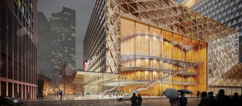 Simulationen zu Neubauten von Oper und Schauspiel Frankfurt