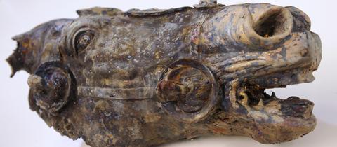 Römischer Bronze-Pferdekopf