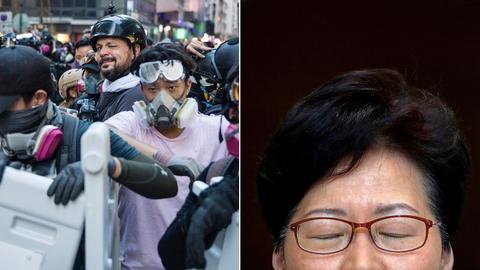 Zwei Fotografien der Pulitzer-Preisträger Carrie Lam und Kai Pfaffenbach