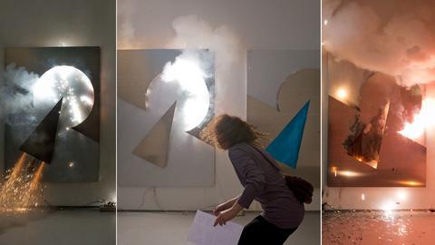 Feuerwerkskünstlerin Sandra Kranich
