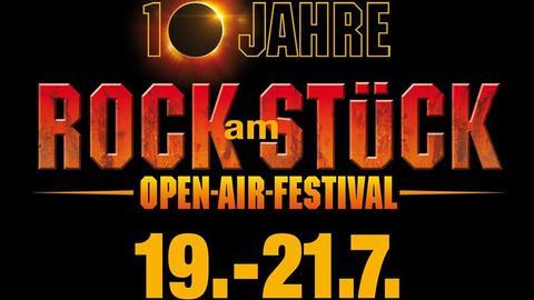 Plakat zu 10 Jahre Rock am Stück