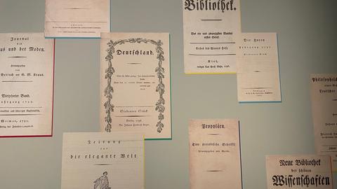 Zeitschriften der Romantik im Deutschen Romantik Museum.
