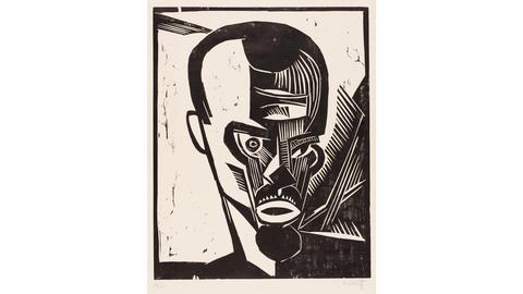 Karl Schmidt-Rottluff (1884-1976), Selbstbildnis, 1919