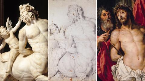 Antiker Kentaur, Rubens-Zeichnung, Rubens-Gemälde