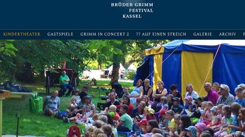 Screenshot: Brüder Grimm Festival Kassel, Kinderprogramm im Botanischen Garten
