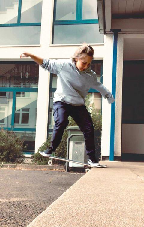 Skaterin Franziska
