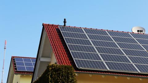 Solaranlage auf einem Einfamilienhaus