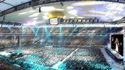 Stadionplan Weltrekordversuch