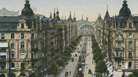 Historische Ansicht des Frankfurter Bahnhofsviertels
