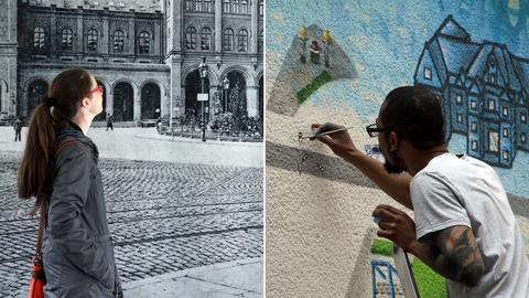 Multimedia-Technik und Graffiti-im erneuerten Kasseler Stadtmuseum