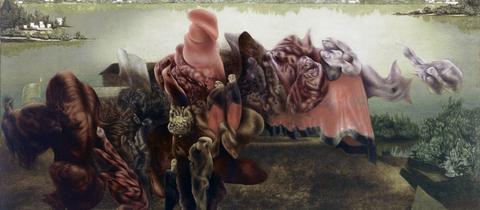 Das Ölgemälde mit dem Titel «Archaisches Fragment» des deutschen Surrealisten Richard Oelze.