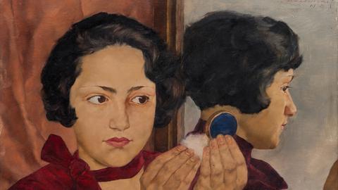 """Lotte Laserstein """"Russisches Mädchen mit Puderdose"""", 1928"""