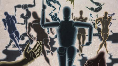 "Victor Vasarely, ""Homme en Mouvement"", 1943"