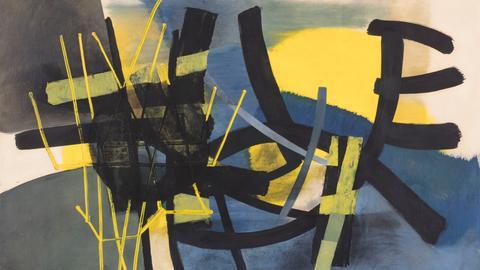 Fritz Winter, Gelbes Leuchten, 1951