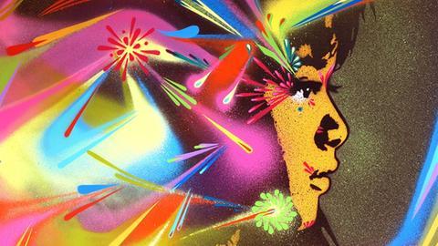 """""""Cancun Girl"""": Graffiti-Kunst auf Leinwand von Stinkfish aus Kolumbien"""