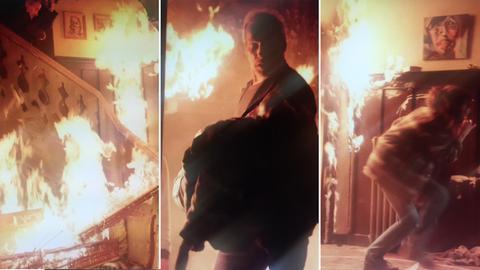Mitten durch die Flammen: Ein ganz besonderer Dreh auch für Schauspieler Wolfram Koch.
