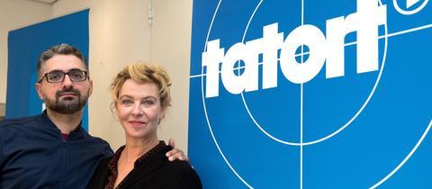 Regisseur Umut Dag und Schauspielerin Margarita Broich.
