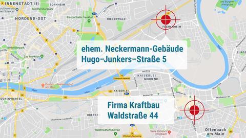 Im ehemaligen Neckermann-Gebäude richtete die Filmcrew ihr Kommissariat ein - bei der Baufirma Kraftbau in Offenbach kommt es später im Film zum Showdown