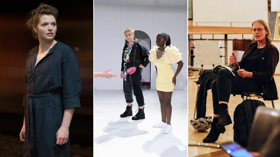 Collage aus verschiedenen Theater-Situationen