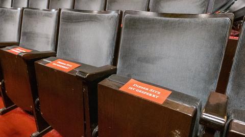 Gesperrte Sitze im Theater